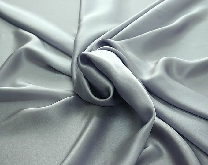 812214-Natural silk crepe Satin 100%, width 135/140 cm, made in Italy, dry cleaning, weight 98 gr