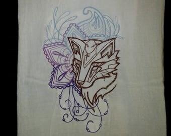 Fox Spirit Ombre Flour-Sack Kitchen Towel