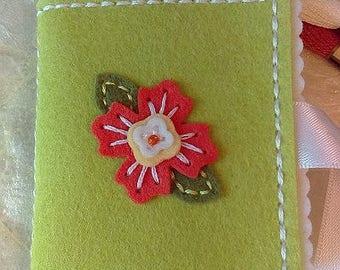 Handmade Needle Book, Felt Needle Book, Wool Felt Needle Book, Felt Sewing Case, Gifts For Her