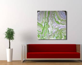 Abstract, Green Abstract, Abstract Artwork, Abstract Painting, Green marble Artwork, Green Painting, Green Marbaling, Abstract Marbaling