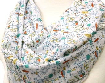 Science Infinity Scarf Physics Scarf Formulas Long Geek Nerd Scarf Gift Ideas For Her, Spring - Summer - Fall - Winter Session Engineer gift