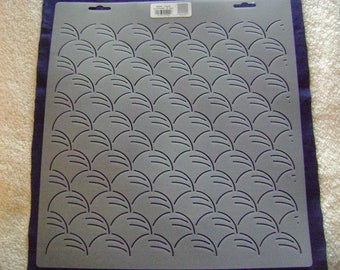 Sashiko Japanese Quilting/Embroidery Stencil 2 in. by 12 in. Clouds Block/Quilting