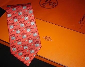 Hermes Silk Tie 7439 HA Made in France. Tie HERMES Collection