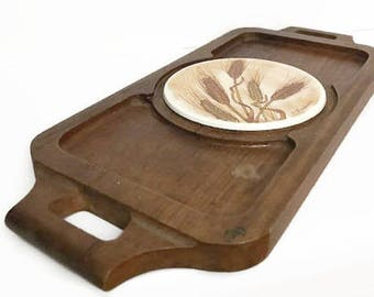 Vintage Wooden Cheese Board Tray by Era Mid Century Modern Design