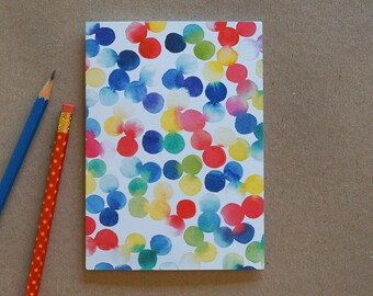 Greeting Card, Spots, Polka Dots, Dots, Art Card, Lucy King, Australia, Watercolor, Illustration, Colourful, Multi Colored, Fun, Happy