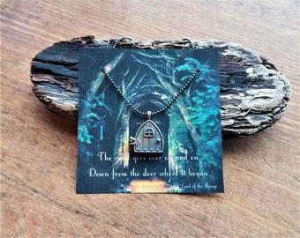 Hobbit Door Locket, Fairy Door Necklace, Lord of the Rings Jewelry, Gandalf and Bilbo Quote, J. R. R. Tolkien, Gandalf Quote, Bilbo Baggins