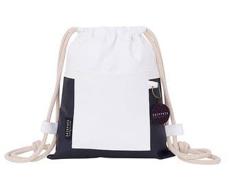 Weekender Bag, Travel Backpack, Mini backpack, Faux leather, Sackpack, Rucksack backpack, String bag, Drawstring backpack, Backpack, Fabric
