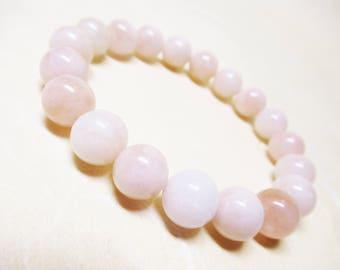 Pink Morganite Bracelet Gemstone Bracelet Heart Chakra Bracelet Healing Bracelet Calming Bracelet Mala Bracelet Love Bracelet 10mm Morganite