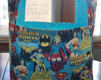 Wonder Woman,  Supergirl, Batgirl Easter Basket, Superhero Easter Basket, Girl's Easter Basket, Teen Girl Easter Basket, Basket, Storage