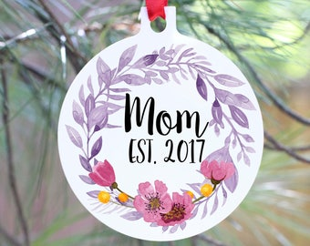 Ornament, Christmas Ornament, Mom Ornament, New Mom Gift, New Mommy Ornament, Mom Gift,  Christmas Pregnancy Announcement, Parent to Be