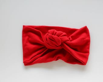 Top Knot Headband / Turban Headband - Red