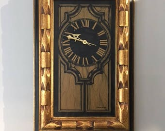 Vintage 1960-70's Caravelle Wall Clock By Bulova Watch Company Solid