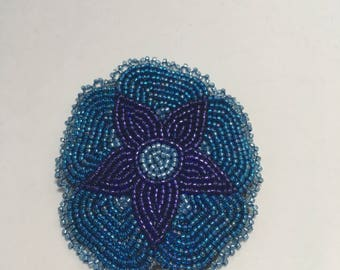 Blue and Purple Flower Clip