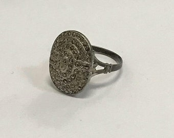CLEARANCE CLOSEOUT Twilight Style Bella Swan Vintage Style Sterling Silver  Marcasite Cocktail/ Statement Ring Wedding