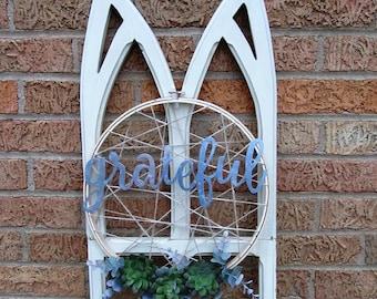 Grateful Succulent Hoop Wreath