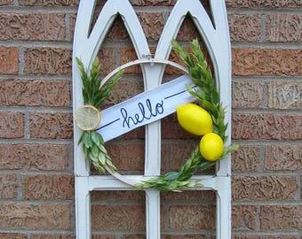 Hello-Lemon Hoop Wreath