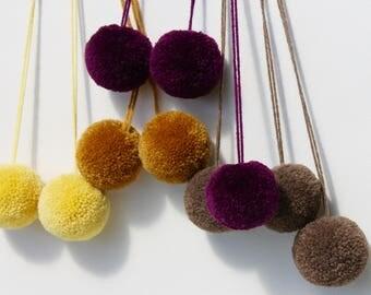 Jumbo Wool Pom poms