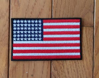 US MADE American Flag Embroidered Patch - Iron or Sew On