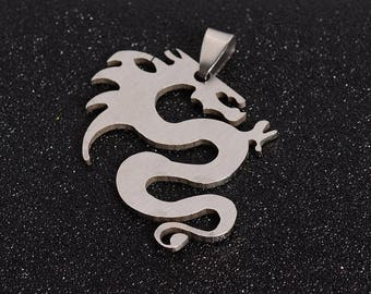 4cm stainless steel dragon pendant