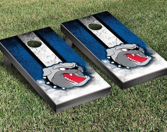 North Carolina Asheville Bulldogs UNCA Regulation Cornhole Game Set Stripe Designs