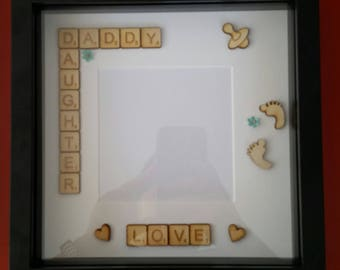 Scrabble Frame - Daddy / Daughter
