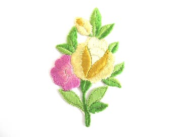 Flower applique 1930s vintage patch Sewing supply. #6ADG9AK4