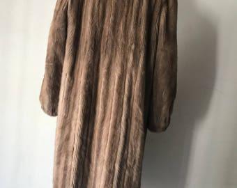 Long mink fur coat woman size medium/large .