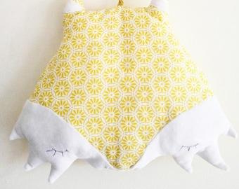 Blanket. Plush Fox shaped. Decorative accessory for children.