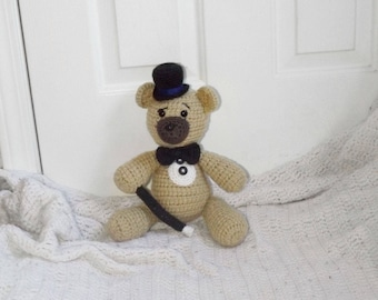 Ready to ship, Crochet Bear, Teddy Bear, Stuffed Animal, Plushie, Photography Prop, Gift for Girls, Gift for Boys, OOAK