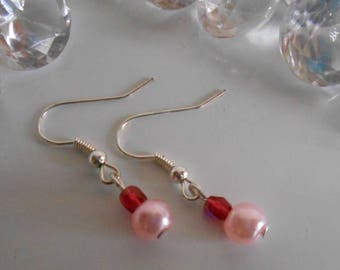 Earrings romantic trendy pink