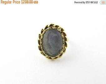 4th of July Sale Vintage 14 Karat Yellow Gold Moonstone Ring Size 6.5 #2156