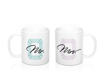 Mr. Mrs. Couple's Mugs