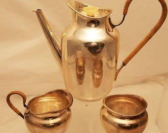 3 Piece Michelsen Sterling Silver Tea Set