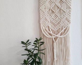 Polka_knot mini macrame wall hanging