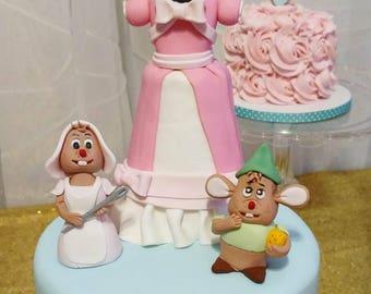 Cinderella cake topper
