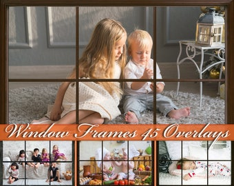 45 Window Frames Overlays Rustic Window Frames Photoshop Overlays Window Overlays Frames Overlay Newborn Overlays Rustic Windows Frame Wood