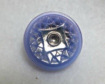 5 Czech glass buttons - lilac - 18mm