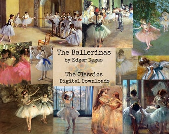 The Ballerinas by Degas - Digital Ephemera Classics, Digital Images, Vintage Art, Instant Download, Digital Paper, Digital Collage