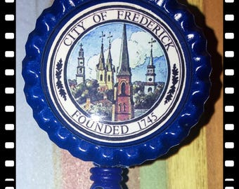 City of Frederick Maryland Retractable Name Badge Clip Pull ID Lanyard