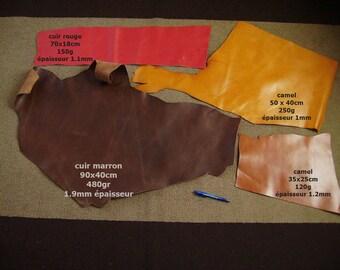 set of 1 KG leather scraps