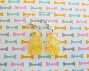 Sweet yellow Teddy bear earring