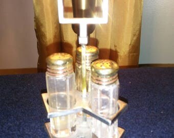 Triple Forbes silver plate shaker set.