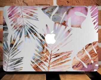 Tropical Leaves MacBook Air 13 Hard Case MacBook Air Case 13 Macbook Air Laptop Case Macbook Pro 13 Case Macbook 2016 Leaf Retina WCm237