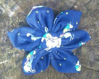 Dog Flower - Dog Collar Flower - Unicorn Flower - Unicorn Dog Collar - Dog Collar - Christmas Dog Collar - Christmas Dog Gift - Christmas