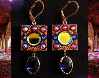 Mirror earrings