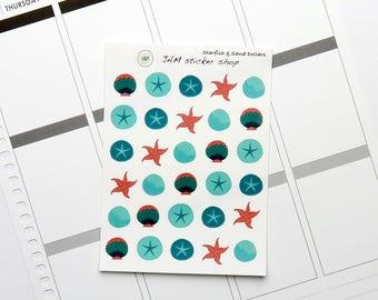 Starfish & Seashells Stickers