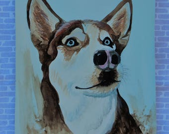 Siberian Husky Art Print, Husky Art, Husky watercolor, Husky Painting, Original Art Print, Dog Lovers Gift, Home Decor