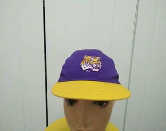 Rare Vintage LSU | LOUISIANA STATE University Big Logo Embroidered Cap Hat Free size fit all