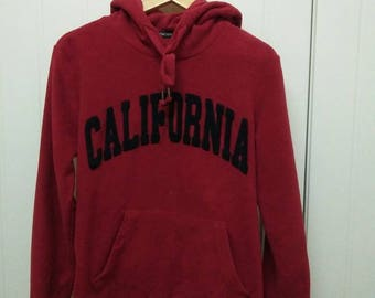 Rare Vintage HANG TEN California Hoodie Size M Medium