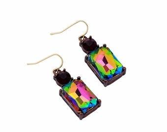 Vintage jewelry quality Venetian glass earrings